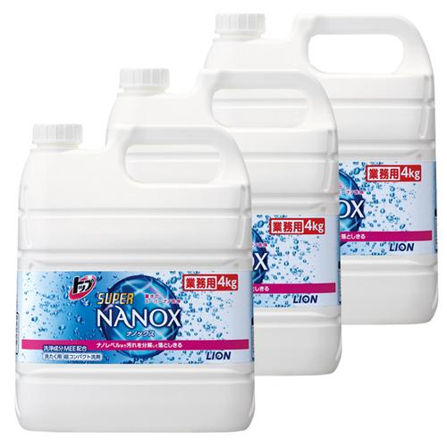 トップNANOX(ナノックス) 4kg 3本