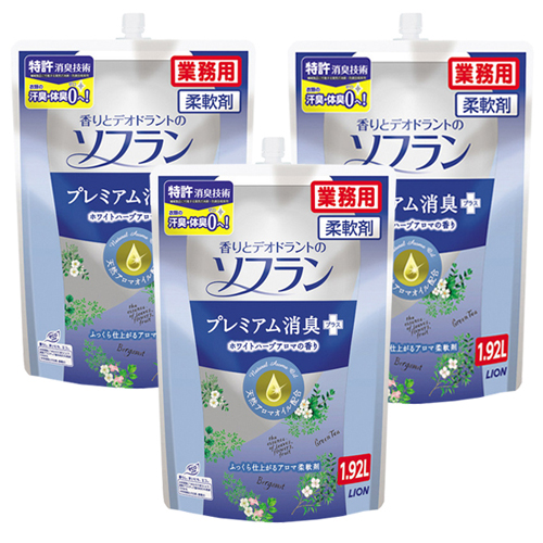 ソフラン プレミアム消臭 ホワイトハーブアロマの香り 1.92L 6袋入