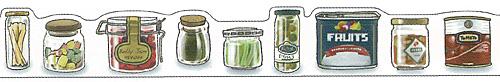 ★マスキングテープ 瓶詰め・缶詰