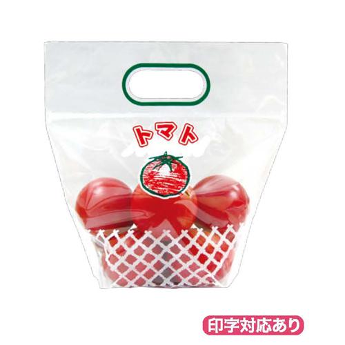 トマト3チャック付スタンドVシール 2000枚