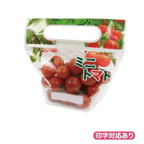 ミニトマト チャック付スタンドVシ-ル S&S 2000枚