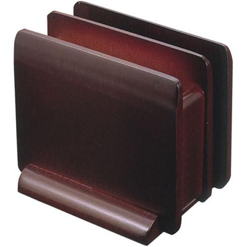 ナプキン&メニュースタンド 木製ブラウン