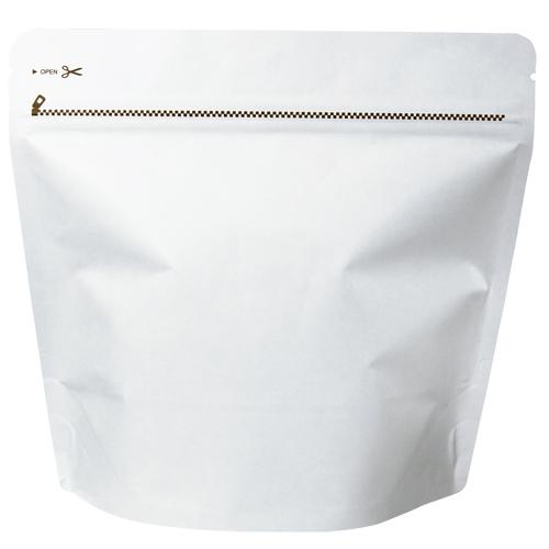 COT-850 コーヒー用スタンドチャック袋200gホワイト インナーバルブ付 500枚