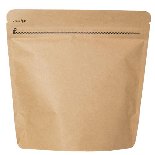 COT-851 コーヒー用スタンドチャック袋200g茶クラフト インナーバルブ付 500枚