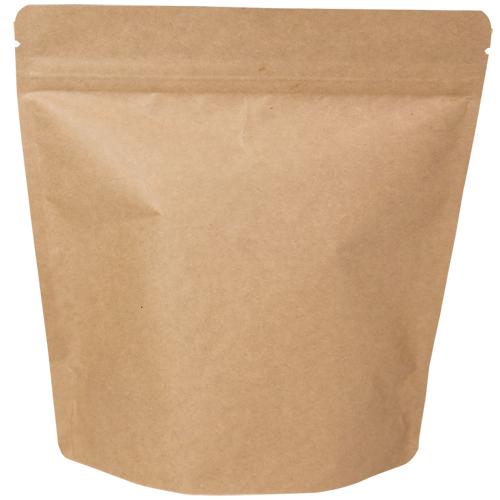 COT-861 コーヒー用スタンドチャック袋300g茶クラフト インナーバルブ付 500枚