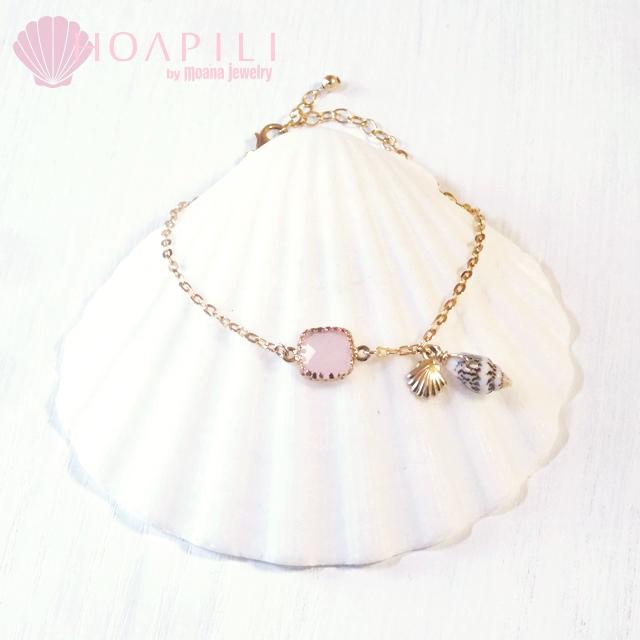 hp_b24 14KGFブレスレット Sea Diva(Pink) アジャスター付き
