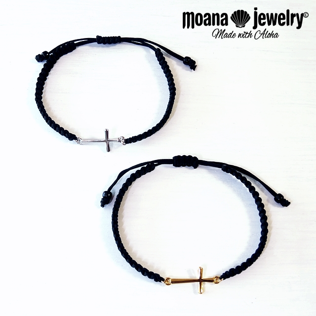 moana_b90 クロスのミサンガブレスレット Cross