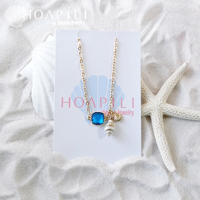 moana_hp14kgfb14a 14KGFブレスレット Sea Diva(Blue) アジャスター付き
