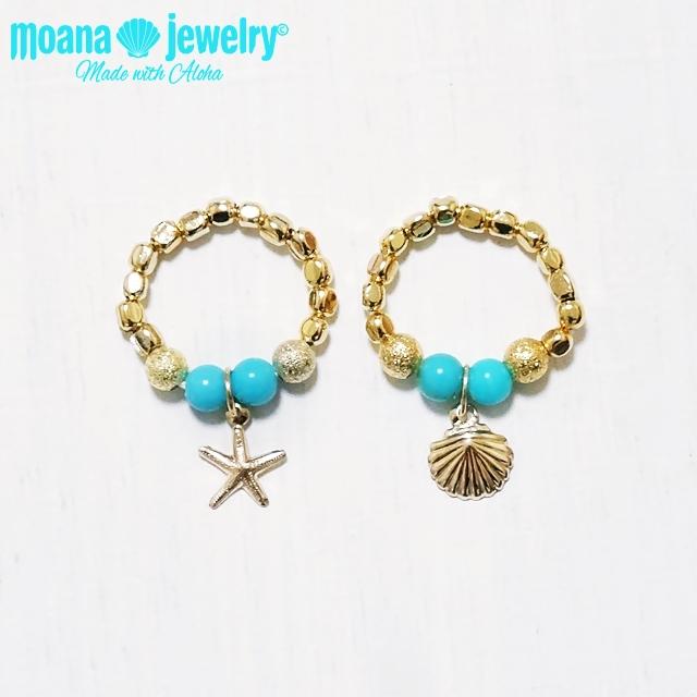 moana_r2  いつでも海を感じるターコイズの指輪  Aloha Ring
