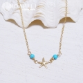 hp_n33 14KGF ターコイズ&ヒトデのネックレス♪ Turquoise with Sea Star