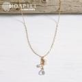 hp_n52 クリスタルと淡水パールの14KGFネックレス Crystal Pearl