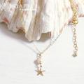 hp_n58 14KGFのネックレス White Fresh Water Pearl&Sea Star