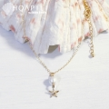 hp_n61 14KGF製 ネックレス Cotton Pearl&Sea Star