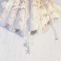 hp_n79 Silver925製ネックレス Cotton Pearl&Sea Star