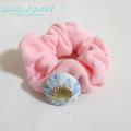 moana_hgi13 Shellボタンが可愛い! パステルパイル地シュシュ PINK