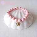moana_hp14kgfb8 14KGFのSAND DOLLARチャームが揺れるブレスレット☆ Pink Shell