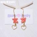moana_p150 ラインピアス Pink Coral&Heart