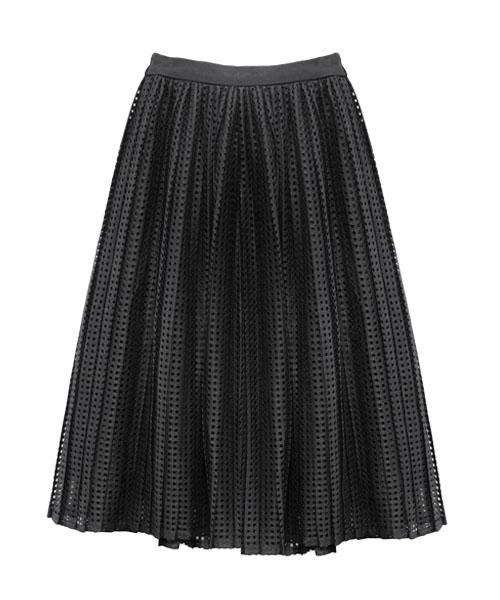 アイレットプリーツスカート/2カラー