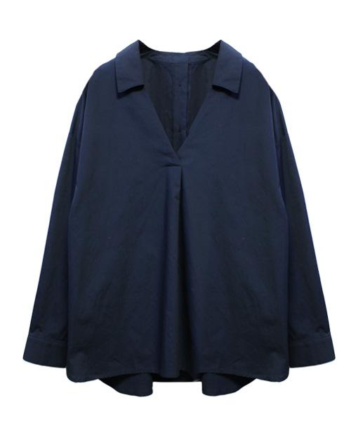 スキッパーシャツ/3カラー