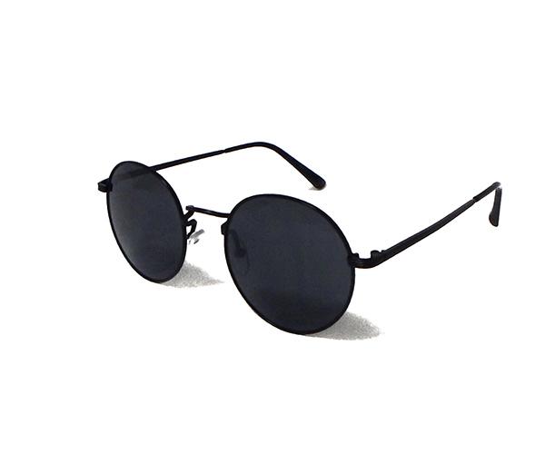 ブラックカラー 丸眼鏡 ラウンドサングラス
