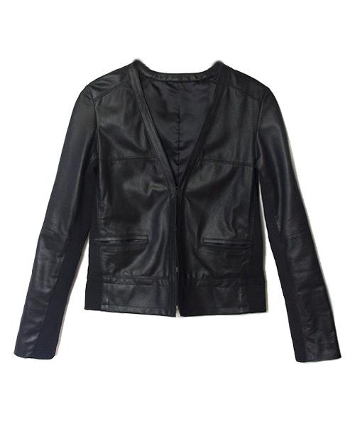 リアルレザーショート丈ジャケット