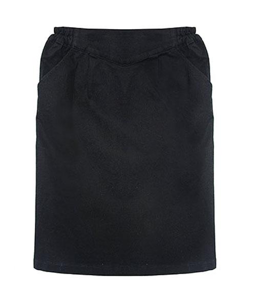 バックZIPシンプルタイトスカート/4カラー