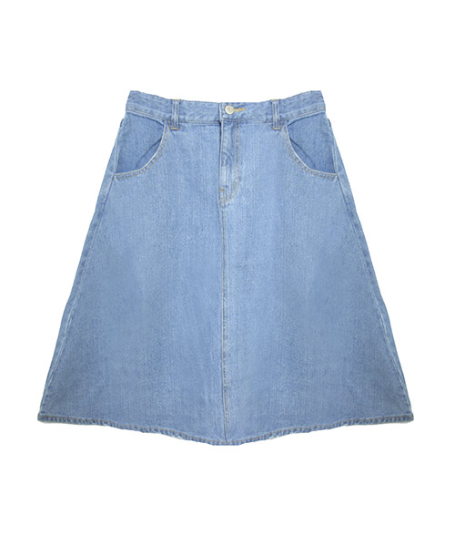 ヴィンテージ風ダメージデニムフレアースカート
