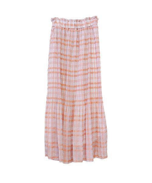 チェックロングスカート/2カラー