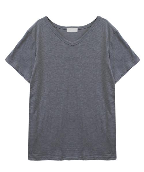 スラブTシャツ 無地/7カラー