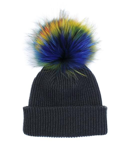 ラクーンファーニット帽/5カラー