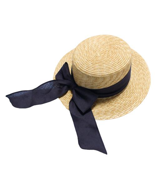 ロングリボン カンカン帽/3カラー