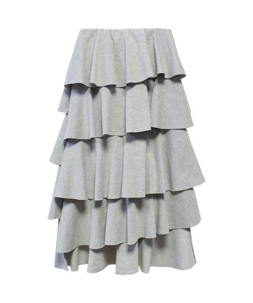 スウェットフリルロングスカート/2カラー