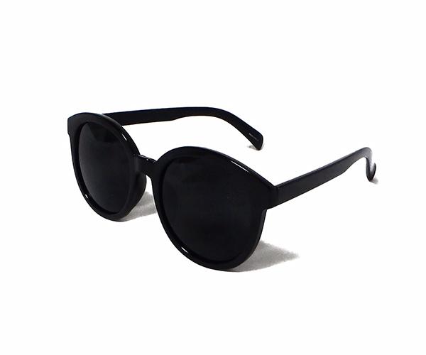 Thick ブラックカラー フレームサングラス