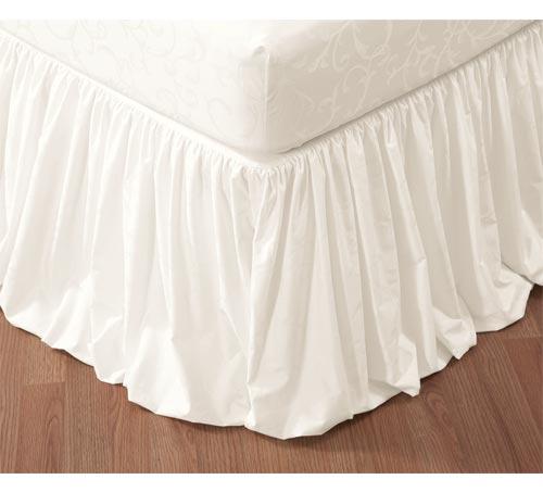 ベッドスカート / ワイドダブル / 155x200cm / 高さ45cm / 400TC ジャガードベッドスカート