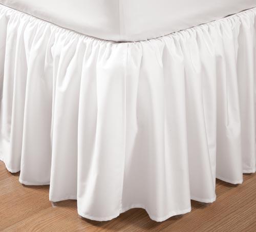 ベッドスカート / ダブル / 140cm x195cm 高さ45cm  / 400TC ギャザーベッドスカート