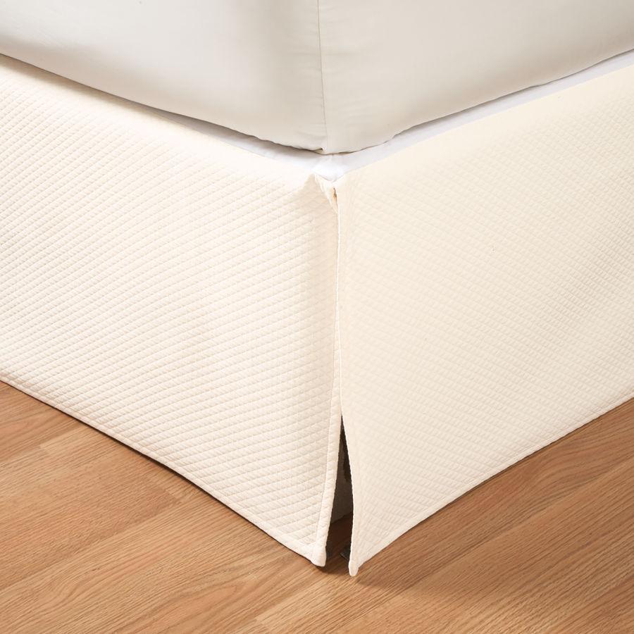 ベッドスカート / ダブル / 140×190cm 高さ45cm/ ダイアモンドピケコットン テーラードベッドスカート