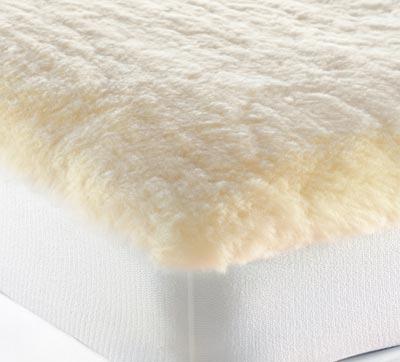ウールフリースベッドパッド / クイーン / (ゴム付き・高さ53cmまでのマットレスに対応・厚さ5cm)