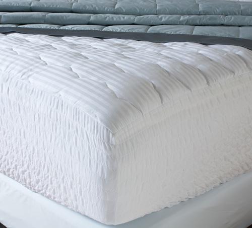 ウォータープルーフ ベッドパッド / クイーン / (ゴム付き・高さ50cmまでのマットレスに対応・厚さ5cm)