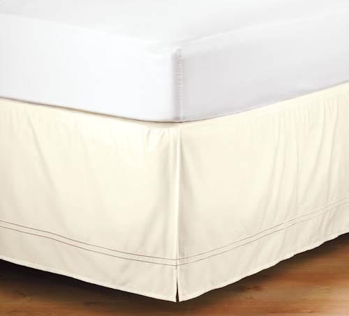 ベッドスカート/ ワイドダブル / 155x200cm / 高さ40cm  /  400TC ホテルベッドスカート