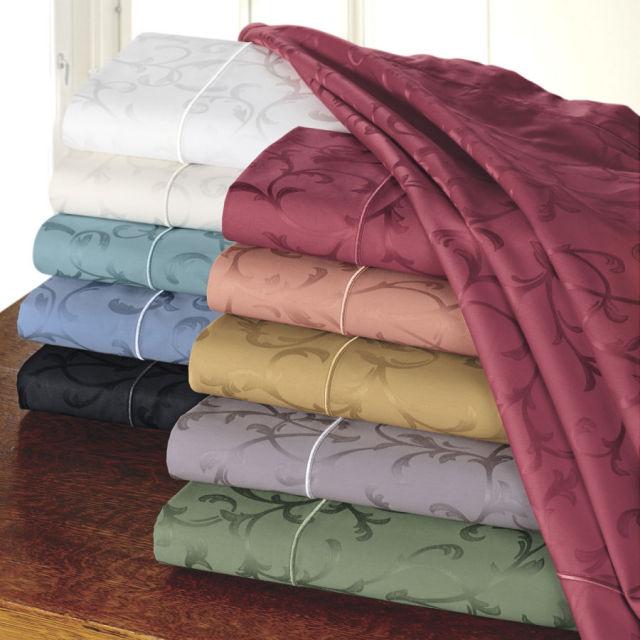10色 / ボックスシーツ1枚 フラットシーツ1枚 額なし枕カバー2枚 / 400TC ジャガード / ダブル  /