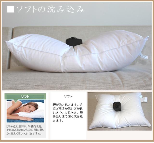 ホテル仕様ダウン枕