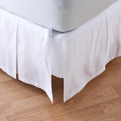ベッドスカート  / ワイドダブル / 155x200cm / 高さ45cm/ デタッチャブルボックスプリーツベッドスカート