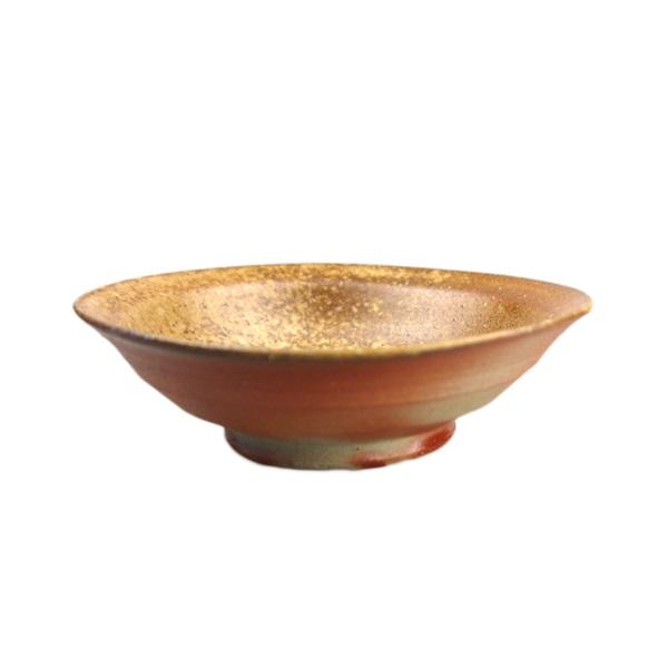 【備前焼】お皿(小皿丸タイプ) 火襷×胡麻
