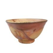 【備前焼】飯茶碗(口開きタイプ) 火襷×胡麻