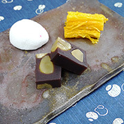 お皿(平皿長方形タイプ) 桟切×牡丹餅