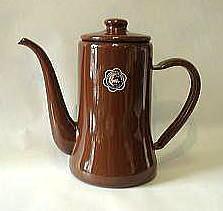 おしゃれで人気の月兔印のコーヒーポット1.2リットル(茶)