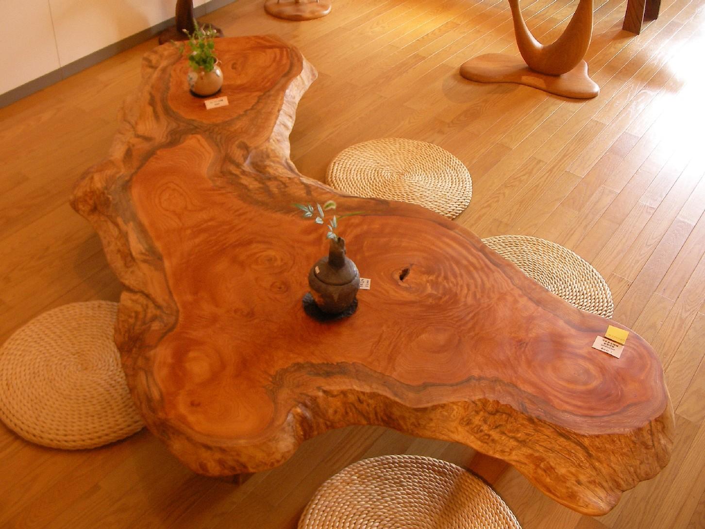 手作り 木製 テーブル 一枚板