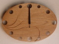 手作り木製電波掛け時計 クルミ