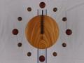 手作り木製電波掛け時計 けやき