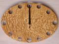 手作り木製電波掛け時計 タモ